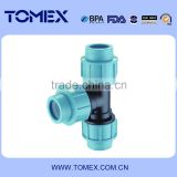 PN16 equal tee pp compression fitting for irrigation system ISO 9001 certificate                                                                         Quality Choice