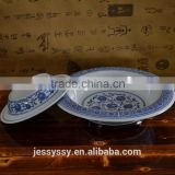 Wholesale Ceramic Factory Print Soup Plate Tableware Soup Bowl