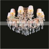 New Arrival Home Crystal Lighting Decoration with 10 Fabric Lampshades MD8231 L10 D1000mm H680mm