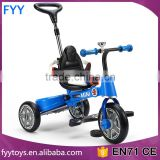 2016 newest design license Baby foldable tricycle kids bike toy