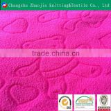 Embossed two-side brushed one-side anti-pilling embossed polar fleece fabric softtextile ZJ050