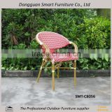 2015 Modern outdoor furniture patio Bamboo look aluminum poly rattan chair