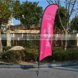 Tear drop Advertising feather Flag Banner for wholesale