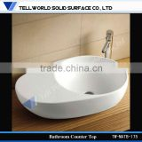 Suitable for Bathroom, Kitchen and Outdoors,Solid Surface Marble Stone Sink Wash Basin