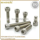 good quality manufacturer carbon steel DIN912 grade 4.8/8.8/10.9 zinc/black/plain din912 m8 titanium bolts in stock