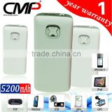 CMP 5200mAh External Battery Charger Power Bank for iPhone/HTC G19/Vigor/Rhyme/Galaxy Tab
