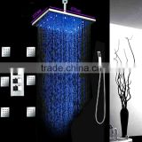 16 inches luxury bathroom led shower set conceal install 3 way thermostatic shower mixer set