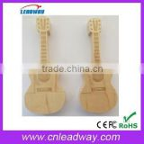 guitar promotional items China export bulk cheap bamboo usb flash drive with engraved logo and free sample 1gb 2gb 4gb 8gb 16gb
