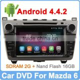 "Ownice 8"" For NEW MAZDA 6 Car DVD GPS Quad Core Pure Android 4.4.2 HD 1024*600 Built-in Wifi"