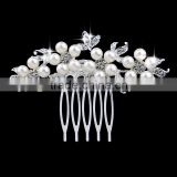 Flower made with pearls small barrettes bridal hair accessory women head comb on wedding