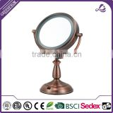 Dual Sided LED Surround Makeup Mirror, 1x/10x Magnification, Copper