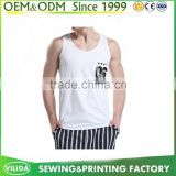 Mens plain white tank custom 100 cotton tank top OEM