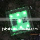 [CE,ROHS] soalr glass ice brick led outdoor light , solar garden light , solar panel light