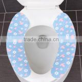 FDA standard soft warm waterproof non-disposable silicone toilet seat cover ,hot sale in winter