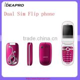 G7-05 cheap China fllp phone 1.77 inch Mtk6250 quad band basic feature dual sim flip phone OEM flip phone