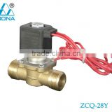 "Male G1/2"" half inch Normally Close Diaphragm type Brass Water Auto Supply or Water Drainage Solenoid Valve (ZCQ-28Y)"