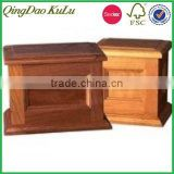 top quality antique solid wood wooden cat casket and urn for cremation