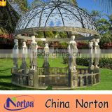 Chinese large round marble gazebo outdoor NTMG-331A