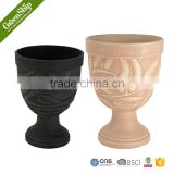 Decorative Garden Fiber Clay Pots from Greenship/ 10 years lifetime/ lightweight/ UV protection/ eco-friendly