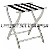 Guangzhou BHL Hotel Articles stainless steel folding luggage rack suitcase stand luggage rack for hotels J42B