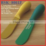 "(BSK-8001P) 5"" Long Plastic Handle Non-Stick Blade Butter Spread Spatula Knife"