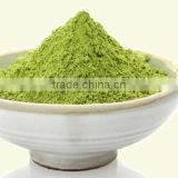 Instant green tea drinks powder in sachets packing