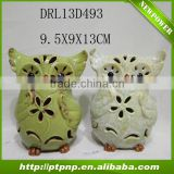 2014 new design ceramic owl plant pots