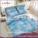 Cheap plain cotton home textile 4pcs bed cover sheet pillow case custom print bedding set