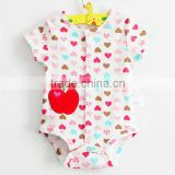 2014 summer baby rompers clothes lovely cotton short sleeve colorful infant clothing set