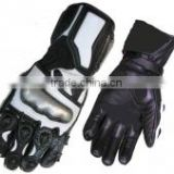 Analine leather Men's Motorbike safety Gloves