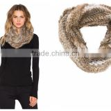 Y.ROGUSA Brand YR012 Trend Basic Style Customize make Top quality Knitted Rabbit Fur Neckwear