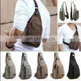 Cross Body Messenger Canvas Sling Shoulder Pack Chest Bag for Traveling, Hiking, climbing
