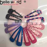 Wholesale cheap hair clip cute hair accessories ponytail metal snap clips