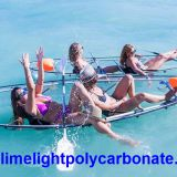 Transparent kayak, clear kayak, crystal kayak, polycarbonate kayak, clear canoe, transparent canoe, crystal canoe kayak
