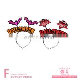 Non-woven made bat and witch halloween accessories headband for festival