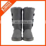 fastener side sheep skin winter boot