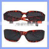 Plastic Pin Hole Glasses Eyesight Vision Improve Fashion Leopard Frame