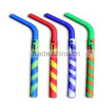 Custom silicone rubber drinking straw Silly Straws Silicone Reusable Smoothie Straws