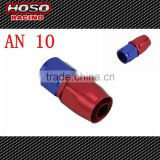 AN 10 Straight Aluminum Red and blue Oil Cooler Hose Fitting