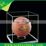 clear 3mm acrylic basketball box, transparent plexiglass basketball display with 280*280*330mm
