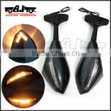 BJ-RM-016A Super bright integrated LED turn signal with arrow style motorcycle side mirror