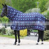 Plaid padded turnout horse rug/horse blanket for winter season