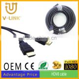 Factory high speed 1.4 bulk hdmi cabel with HD 1080p 3D supported 1.5m/3m/5m/10m/15m/20m