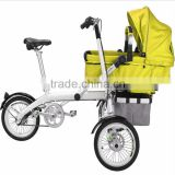 New Fashion Mother And Product Baby Bike Bicycle Trailer & Stroller 2 In 1 For 1 Or 2 Children