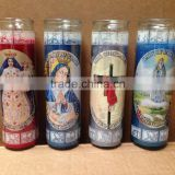 2016 hot wholesale religious candles/candle jars /7days candle glass candle                                                                         Quality Choice