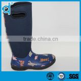 Waterproof Bear Printed Neoprene Rubber Rain Boots