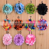 Custom Printed Shabby Fabric Flowers For Wholesale,Decorative Rolled Flower For Clothing