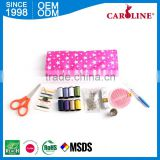 Export Quality Hotel Portable Convenient Mini Plastic Card Sewing Kit With Scissors Kits