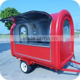 2013 Quick Delivery Red Concession Bread Food Carts with Hot Water Big Window Wheels XR-FC250 B
