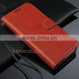 Luxury genuine cowhide Leather Flip Credit Card Wallet Stand Case Skin For Samsung Galaxy S6